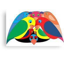 Colourful parrots Metal Print