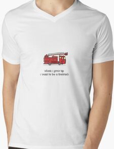 When i grow up i want to be a firetruck Mens V-Neck T-Shirt