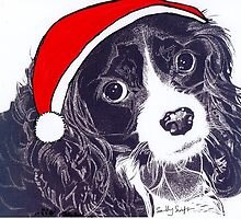 Christmas King Charles Cavalier by SallySwift
