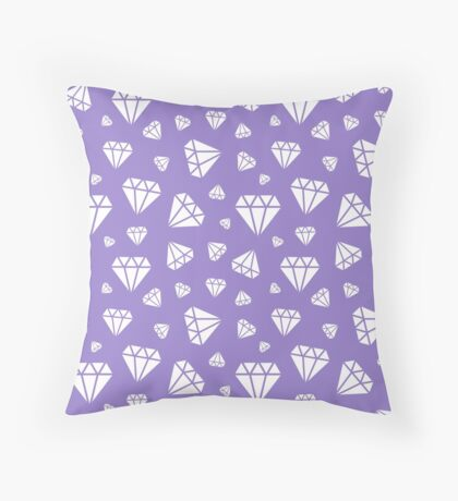 Lavander Faceted Diamonds Pattern Throw Pillow