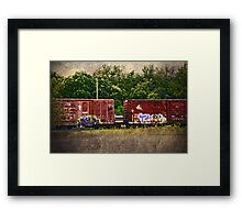 Graffiti by Lake Seneca Framed Print