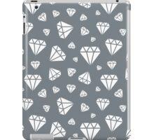 Cool Grey Faceted Diamonds Pattern iPad Case/Skin