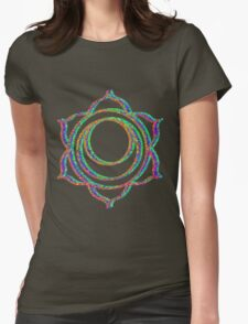 Sacral chakra Womens Fitted T-Shirt