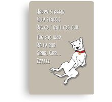 Happy Staffie Silly Staffie Canvas Print