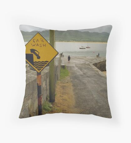 Car Wash in Ireland Throw Pillow