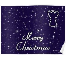 Merry Christmas Angel card Poster