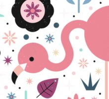 Flamingo & Chick  Sticker