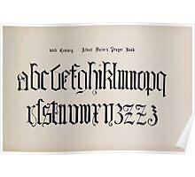 The Signist's Book of Modern Alphabets Freeman F Delamotte 1906 0171 Sixteenth 16th Century Albert Duror's Prayer Book Small Poster