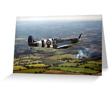 Spitfire over West Sussex Greeting Card
