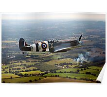 Spitfire over West Sussex Poster