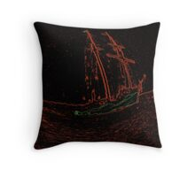 Storm Sailing Throw Pillow