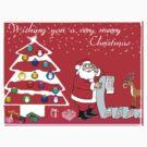 Kids Christmas Tee by Bernie Stronner