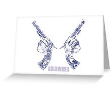 TWO PORCELAIN GUNS Greeting Card