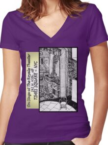 NYC - Back Stage at the Royale Theater, off Times Square Women's Fitted V-Neck T-Shirt