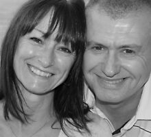 mum and chris black and white by Evette Lisle
