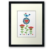 Happy - sweet print - multi Framed Print