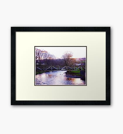 Gaze Upon The Twilight Waters Framed Print