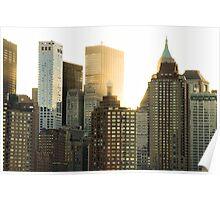 First light in Manhattan Poster