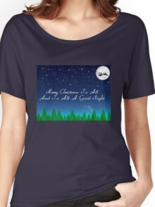 Santas Sleigh over the Moon Women's Relaxed Fit T-Shirt
