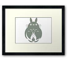 O-Totoro, Chu-Totoro, Chibi-Totoro Framed Print