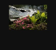 Silver River, Wild Rhododendrons and Bright Green Ferns Unisex T-Shirt