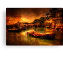 Polperro Harbour Canvas Print