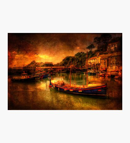 Polperro Harbour Photographic Print