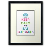 Keep Calm and Eat Cupcakes - pastel Framed Print