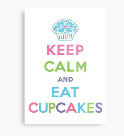 Keep Calm and Eat Cupcakes - pastel Metal Print