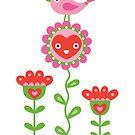 Happy - sweet print by Andi Bird