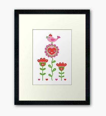 Happy - sweet print Framed Print