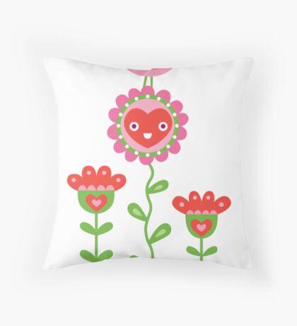 Happy - sweet print Throw Pillow