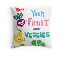 Eat Your Fruit and Veggies Throw Pillow