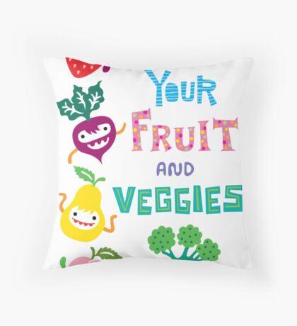 Eat Your Fruit and Veggies Throw Pillow