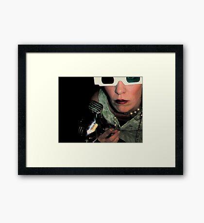 It's a Ray-Gun, NOT a Hair-dryer.  A Ray-Gun!!! Framed Print