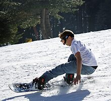 Eric Sliding Down the Hill by Corri Gryting Gutzman