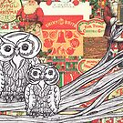 Christmas Owls 2 by kewzoo