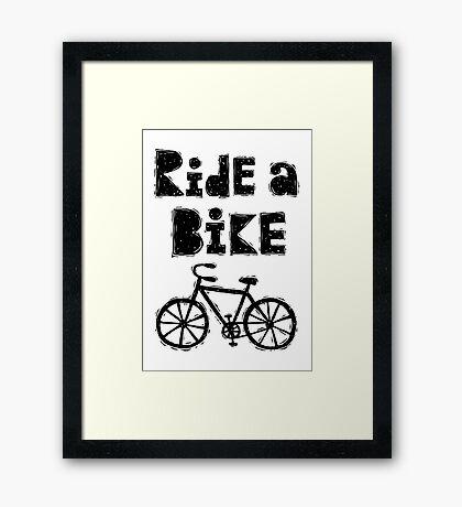 Ride a Bike - woody  Framed Print