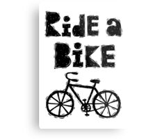 Ride a Bike - woody  Metal Print