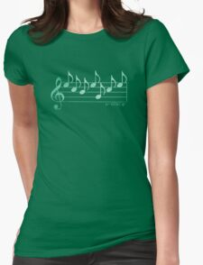 SCIENCE  - Words in Music -Teal Green -  V-Note Creation Womens Fitted T-Shirt