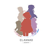 Clannad girls - colored silhouettes Photographic Print