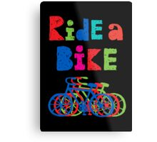 Ride a Bike - sketchy - black Metal Print