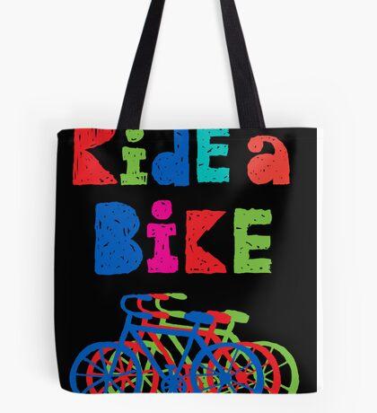 Ride a Bike - sketchy - black Tote Bag