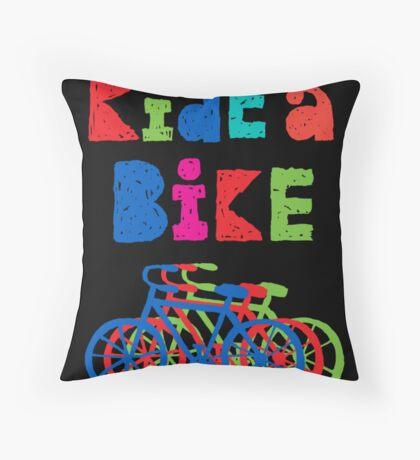 Ride a Bike - sketchy - black Throw Pillow