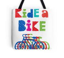 Ride a bike - sketchy - white Tote Bag
