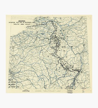 World War II Twelfth Army Group Situation Map December 19 1944 Photographic Print