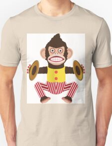 Monkey with cymbals. Unisex T-Shirt