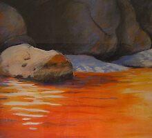 Red reflections  Tidal River by gippslandartist