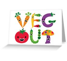 Veg Out - white Greeting Card