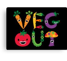 Veg Out - black Canvas Print